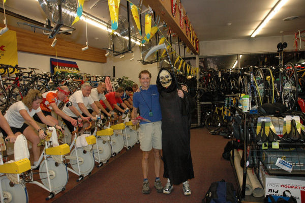 You never know who you'll meet at the Torture Cycling Clinic!!