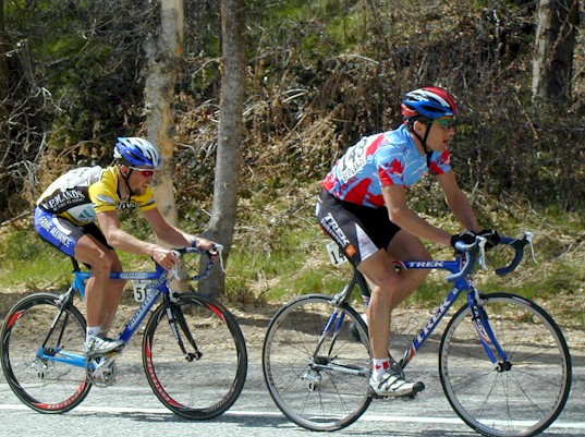 Roland Green and Chris Horner looking good here